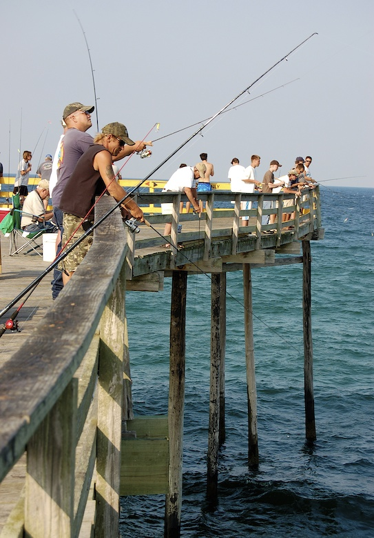 Nags head fishing pier on the outer banks nc cary scott for Fishing outer banks nc