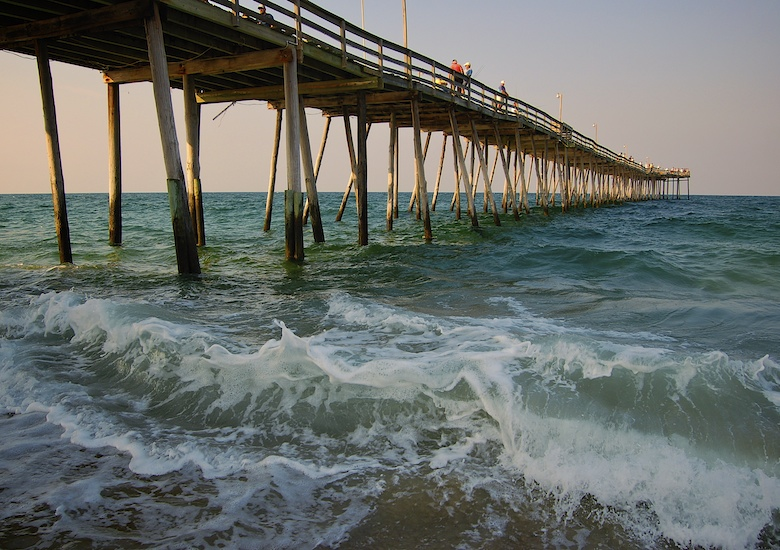 nags head fishing pier on the outer banks nc cary scott