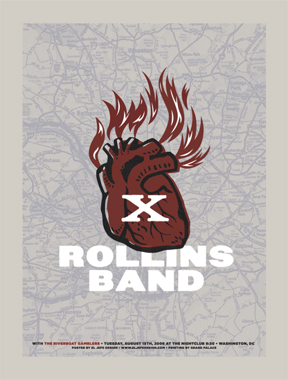 Rollins Band Concert Poster